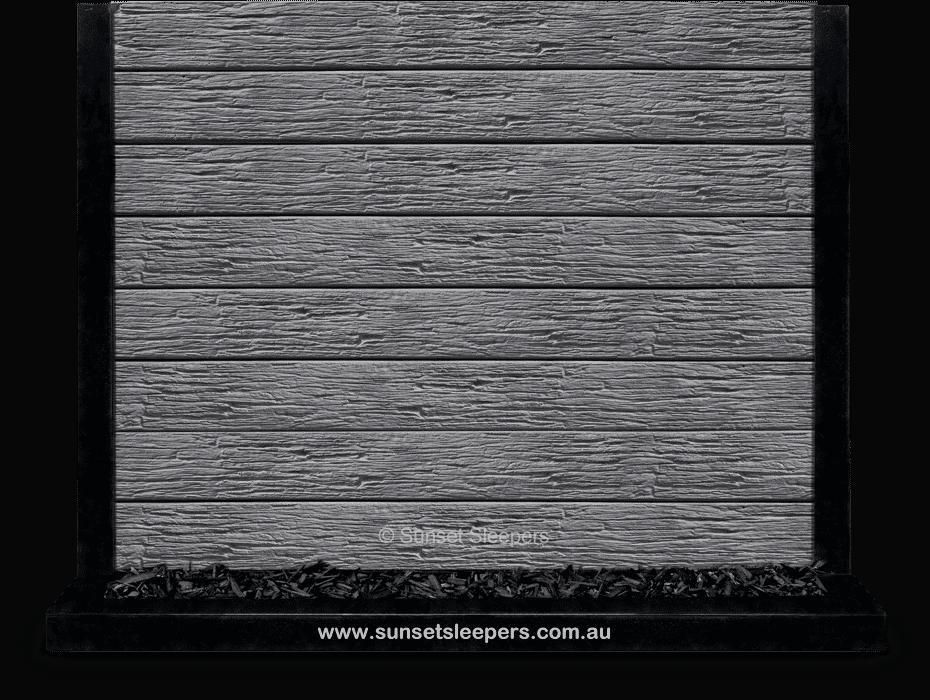 'The Malibu' Charcoal Textured Woodgrain Concrete Sleeper