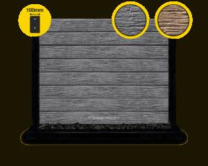 100 The Malibu Charcoal Textured Woodgrain Concrete Sleeper by Sunset Sleepers 1