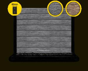 80 The Malibu Charcoal Textured Woodgrain Concrete Sleeper by Sunset Sleepers 2