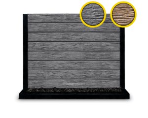 The Malibu - Charcoal Textured Woodgrain Concrete Sleeper By Sunset Sleepers