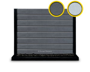 The Marina - Charcoal Plain Faced Bevelled Edge Concrete Sleeper By Sunset Sleepers