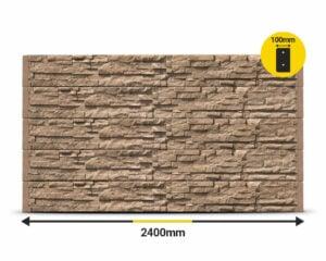 Jasper Stackstone 2400 x 200 x 100mm Concrete Sleeper by Sunset Sleepers