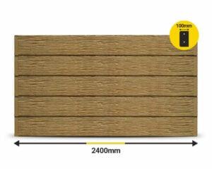 Jasper Textured Woodgrain 2400 x 200 x 100mm Concrete Sleeper by Sunset Sleepers