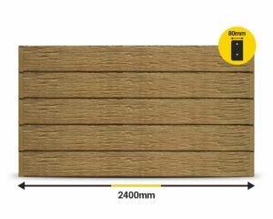 Jasper Textured Woodgrain 2400 x 200 x 80mm Concrete Sleeper by Sunset Sleepers